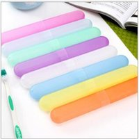 Wholesale Portable ABS Traveling Toothbrush Storage Protective Box Candy colors Bathroom Sets For Traveling Toothbrush Storage Protective Box