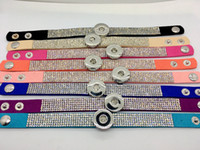 Wholesale Ginger Snap Bracelet Mix Style Women Fashion Rhinestone Snap bracelet jewelry Fit Interchangeable MM Snap Chunk Charm Button