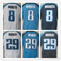 baby rugby jerseys - Best quality jersey cheap Men s Stitched Marcus Mariota DeMarco Murray elite jerseys White baby blue Dark blue Size