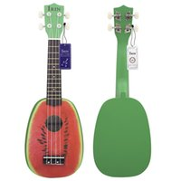 Wholesale inch Ukelele Strings Hawaii Ukulele Colorful Lovely Watermelon Design Basswood Stringed Musical Instrument Christmas Gifts