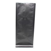 aluminum bellows - 11 cm Black Open Top Matte Organ Bag Pure Aluminum Foil Bellows Pocket For Sugar Snacks Mylar Package Bag