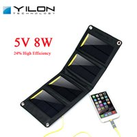 Wholesale YILON Portable Solar Power Bank Charger W A Foldable Portable Powerbank Cell USB Solar Panel Charger Without External Battery