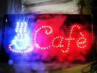 Wholesale hot sale led Cafe sign shiny LED sign neon light billboard with a hanging chain for restaurant salon coffe shop bar