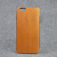 apple wood blanks - Wood Design Cell Phone Cases Blank Cherry Wood Phone Shell Soft TPU Cover For Iphone plus s plus