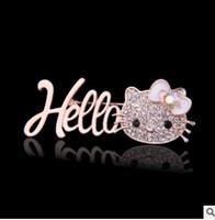 Women's american heels - Animals high heels lips with diamond pearl brooch hollo kiti brooches styles can choose