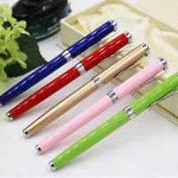 best gel ink pen - Colorful metal roller pen for back to school gift best metal pen for students
