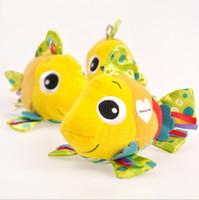 Lamaze Feel Me Poissons clownfish massage particule particule anneau de papier jouets en tissu Livraison gratuite