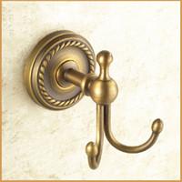 antique brass bathroom hardware - Antique Brass Clothes Hooks Single Hook Bathroom Hardware Pendant Classic Brushed Surface Hat Hook