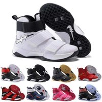 Wholesale With Box HOT Cheap New Lebro Soldiers X Mens Basketball Shoes Cheap Jam s Basketball Shoe Sports Training Sneakers US