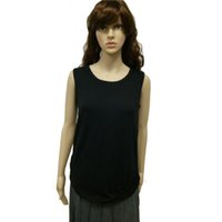 bamboo women t shirt - Sleeveless Simple T Shirt Women Bamboo Fiber Short Casual Crew Neck T Shirt Women Clothing for Women with Black Color