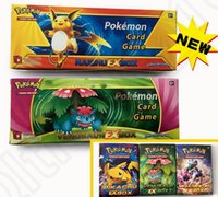 Wholesale Poke Go Trading Cards English Rare XY Trading Card Playing Games Collections Poke Toys Random Booster Cards pack box OOA1075