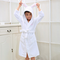 Wholesale Kid s Hooded Bathrobe Christmas Pajamas Children Bathrobes Kids Bathrobe for Girl and Boy Colour Cotton Towels Robe