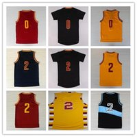 Basketball Men Sleeveless 2017 Fashion 2 Kyrie Irving 0 Kevin Love 23 LeBron James Jerseys Trowback Red White Yellow Black Blue Cheap Mix Orders,Drop Shipping