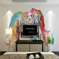 abstract wallpaper backgrounds - D Stereo Custom Modern Minimalist Abstract Elephant TV Sofa Living Room Background Wall Children Room Study Wallpaper Mural