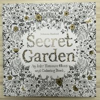 Wholesale 96 Pages Secret Garden Coloring Books Children Adult Relieve Stress Kill Time Graffiti Painting Drawing Books