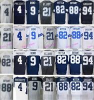 Wholesale Best High Dak Prescott Jersey Blue White Ezekiel Elliott Dez Bryant Tony Romo Sean Lee Jason Witten
