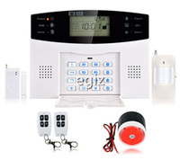 Wholesale Wireless GSM SMS Alarm System Burglar Detector Sensor LCD Auto Dial Home Security Alarm System Voice Prompt