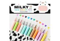 Wholesale color Milky cow diamond head day Gel pen New pens zakka kawaii Stationery Canetas escolar Office material school supplies