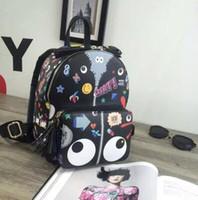 Wholesale New fashion graffiti big backpack bag tote bag printing fashionista cartoon