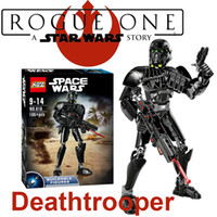 Wholesale Rogue One A Star Wars Story Deathtrooper action figure building blocks toys plastic dolls Assemble diamond build blocks In stock
