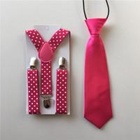 baby necktie pattern - Colors Set Children s Baby Kids Suspenders Printing Dots Pattern Clip on Elastic Braces Straps Kid Necktie Ties Party BDTZ005