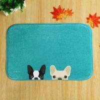 Wholesale 2017 Kawaii Animal Dog Cute Cat Print Bathroom Kitchen Carpets Doormat for Living Room Anti Slip Tapete Rug Welcome Floor Mats