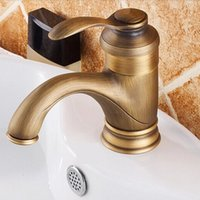 Chrome bathroom sinks tops - top quality solid brass bathroom basin sink mixer tap with single handle antique basin sink faucets