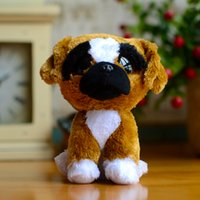 big dog boxers - Big Eyes Beanie Boos Kids Ty Plush Toys Brutus Boxer Reg Dogs Christmas Gifts Lovely Girl Kawaii Cute Brown Stuffed Animal Dolls