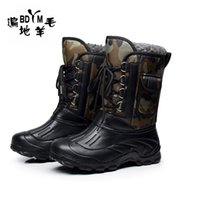 big fish band - 2016 Winter Male boots thickening waterproof snow boots cotton Ski boots gaotong outdoor Fishing snow shoes fashion big sizes