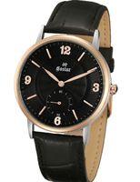 Wholesale 2016 Wave bright leather type latest fashion dress Popular mens wrist watch geniue leather strap business men watch