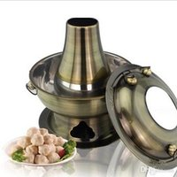 Wholesale bronze color stainless steel hot pot old fashioned traditional charcoal stove restaurant home stoves cm
