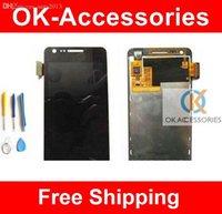 achat en gros de lcd sceen-Vente en gros-Pour Samsung Galaxy R Z I9103 Touch Sceen Digitizer Assembly + LCD Display + Free Tools 1PC / Lot Livraison gratuite