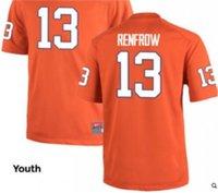Wholesale Men Hunter Renfrow Clemson Tigers Replica WHITE Orange Alumni jersey