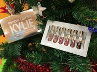 Wholesale 20SET Kylie Holiday Edition set Mini KIT Matte Liquid Lipstick Set Kylie Cosmetics HOLIDAY EDITION FOR Christmas