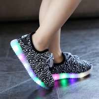 Wholesale 10pcs LED Light Up Shoes New Kids LED Light Sport Shoes For Boys Girls Causal Running Sporting Lumineuse Glowing Shoes