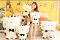 Wholesale Cute Fashion Big face cat plush toy kitty doll children toy cat doll as chirstmas gift