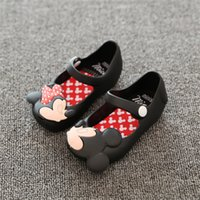 Unisex abnormal animals - New Summer Child Shoes Mini Sed Style Mickey Minnie Kids Toddler Baby Footwear Little Girls Crystal Jelly Shoes Children Beach Sandals