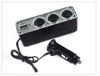 Wholesale Hot Selling High Quality Way Triple Car Cigarette Lighter Socket Splitter V V USB Car Charger