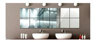 Wholesale Bathroom Cosmetic cm cmx9 square mirror reflective film wall stickers gum decoration Decorative