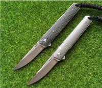 Wholesale AAA Boker Newest Kwaiken ball bearing Flipper folding knife VG blade Titanium carbon fiber handle camping hunting knife EDC tools