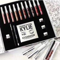 Wholesale 2017 Makeup kylie Holiday Edition Big Box Set Lipstick Eyeshadow Eyeliner Set Kylie jenner Christmas gift MR240