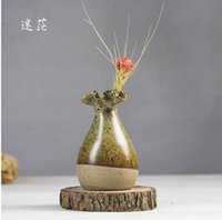 Wholesale high quality ceramic flower bottle pot handmade creative elegant home decoration flower vases