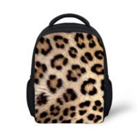 Wholesale Fashion iinch Children Stripe School Bags Unisex Mini Book Bags Small Leopard Schoolbag for Boys Kids Kindergarten Bags