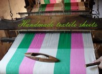 Wholesale Handmade textile Sheet Enjoy the artificial brought about by different feelings No static Non polluting cotton handmade bed sheetsRetail a