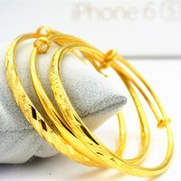 Wholesale Shipping simulation of crude gold plated surface Longfeng Bracelet female send gift gold bracelet marriage celebrate their mother