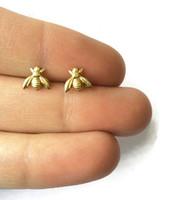bees earrings - 30Pair S021 Honey Bee Earrings Tiny Honeybee Stud Earrings Woodland Insect fly bird honey Bumble Bee Stud Earrings