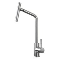 Wholesale BLH F514 Brushed Stainless Steel Kitchen Sink Faucet Single Hole Hot Cold Water Mixer Basin Faucet Tap