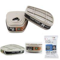 Cheap Wholesale-2pcs=1pair 6001cn organic vapor cartridge filter For 6800 Respirator Gas Mask 7502 6200 Half Mask