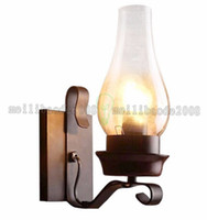 antique deco wall sconce - 2017 NEW Antique Iron Rustic Sconce Industrial Wall Lamp Retro Metal Light Lighting Porch Edison Style Wall Lamp Sconce MYY