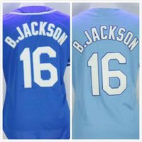 Wholesale Womens Bo Jackson Jersey Royals Baseball Jerseys Full Stitched Blue Embroidery Logo Size S XL